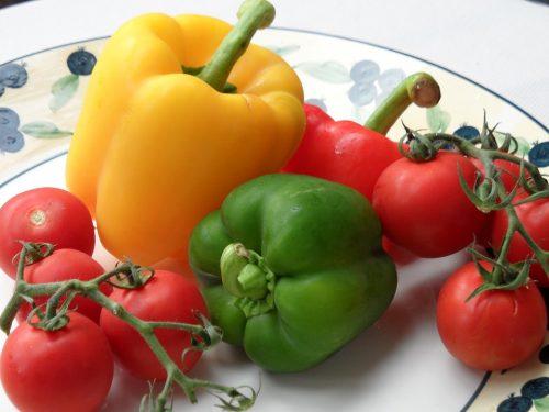 paprika a paradajka